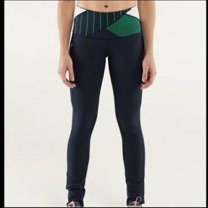 "Lululemon RARE navy ""can't stop pants"" leggings"